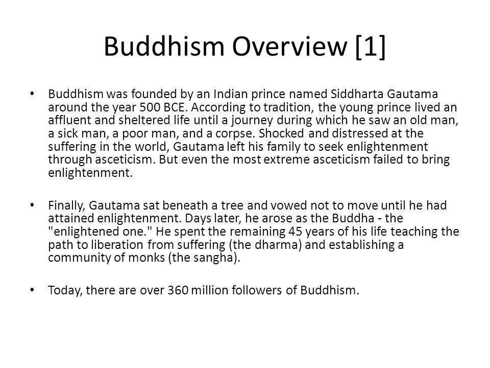 an overview of the old religion of buddhism Conversely, buddhist artistic creation stopped in the old magadha area,  during the mon hanthawaddy kingdom (1287–1552), theravada buddhism was the dominant religion in burma, with strong.